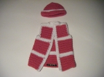 Hat & Vest: Hot Pink & White