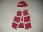 Hat & Vest: Hot Pink & White