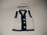 Hat & Vest: White & Black