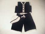 Hat, Pants & Vest: Black & White
