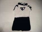 Bow Tie Black & White Dress & Head-band