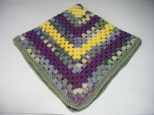 Y&Purp&Multi-Grn Blanket Fold