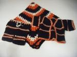 Blanket, Jacket & Pants: Brown, Orange & Creme