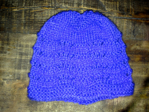 1 knit project complete