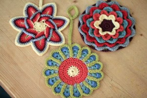 flowers pot-holders