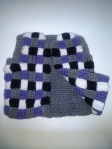 Plaid Front w/ Solid Back: Purple, Black, White & Grey