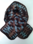 2-3 Years Scarf brown & turquoise