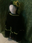 HeadBand & Cloak: Black, Green & Yellow