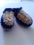 Blue &  Tan Moccasins
