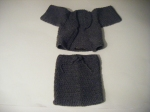Jacket & Skirt: All Grey