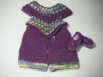 Mary Janes, Pants & Poncho: Purple, Yellow & Green