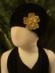 Black w/ Gold Flower