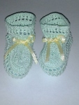 Mint Green Thread Booties