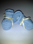 Icy Blue Thread Booties